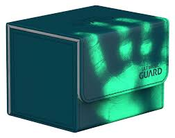 Ultimate Guard Sidewinder ChromiaSkin Deck Box +100 Petrol Blue (Heat Sensitive Color Changing)
