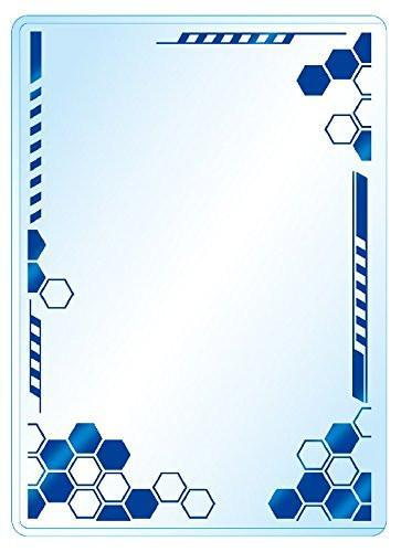 Premium Card Side Loader Guard - Hexagon - Blue (3PCS)