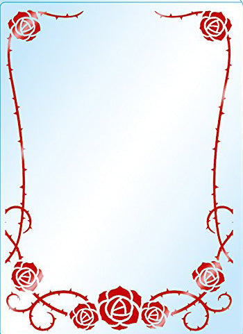 Premium Card Side Loader Guard - Red Rose (3PCS)