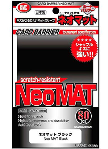KMC Full Sized Neo Mat Black (80 COUNT)
