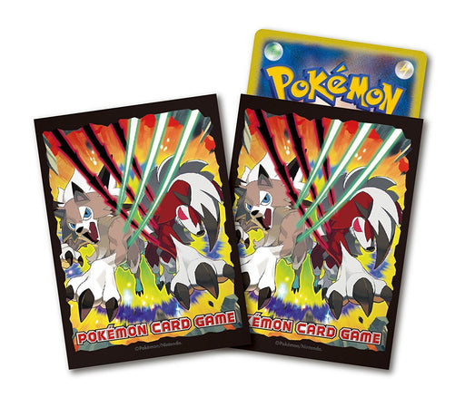 Pokemon Sun and Moon - Lycanroc- Deck Game Sleeves 64pc
