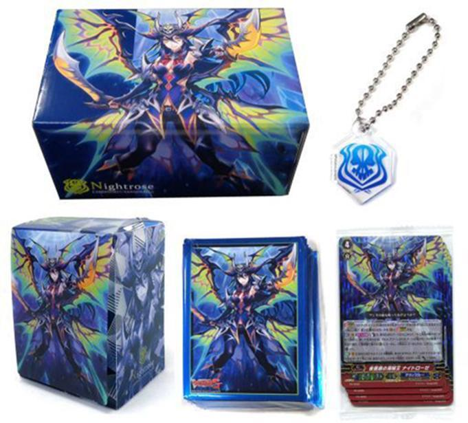 Vanguard Event Nightrose Pirate King - Character Promo Set Sleeves, Deck, Storage Box Key Chain