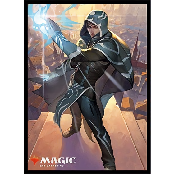 Magic The Gathering War of the Spark Jace, Wielder of Mysteries  Art Sleeves  MTGS-100 80CT