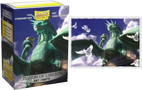 Dragon Shield: Art Matte Sleeves Dragon of Liberty (100 COUNT) Limited Edition