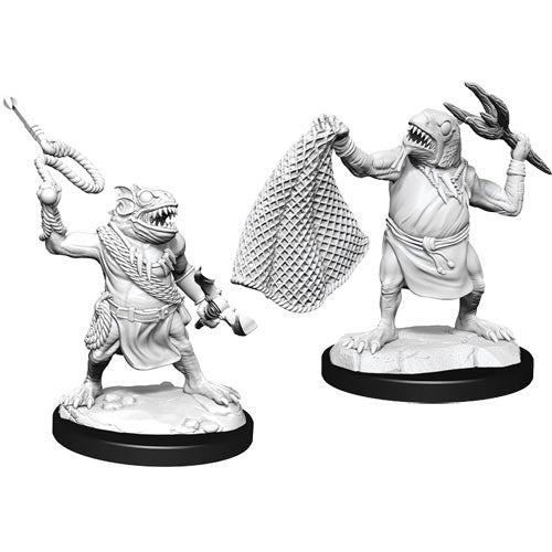 Dungeons and Dragons D&D: Nolzur's Marvelous Minis: Kuo-Toa & Kuo-Toa Whip W14 Miniature (Pre-order)