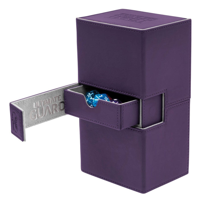 Ultimate Guard Twin Flip n Tray Double Deck Box for 160+ Cards - Purple