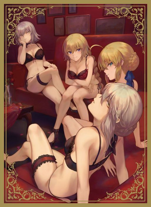 C97 Fate - Saber Jeanne Lingerie Ver. Circle Sunpan - Doujin Mature Character Sleeves