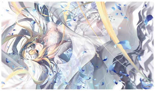 C97 Fate Grand Order FGO - Jeanne d'Arc Ruler White Wedding Ver. Circle Cluster - Doujin Mature Character Rubber Playmat