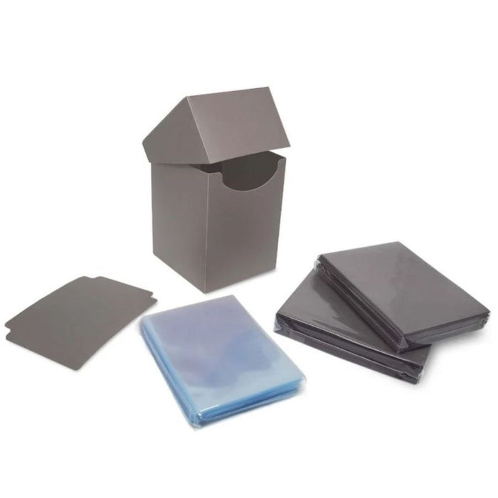 Deck Guard: Elite2: Combo Pack - Cool Gray - Basic Sleeves 100CT
