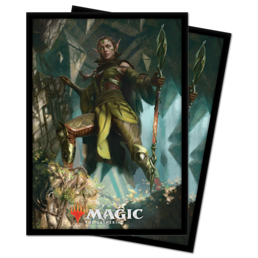 Magic The Gathering: Zendikar Rising - Nissa of Shadowed Boughs - Ultra Pro Sleeves V.3 (100CT)