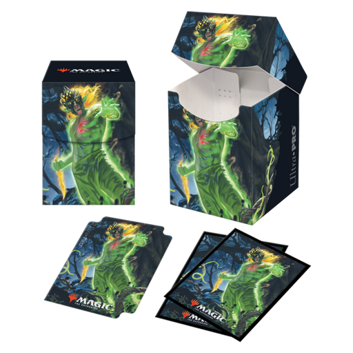 Magic The Gathering: Zendikar Rising - Obuun, Mul Daya Ancestor - Ultra Pro Combo 100+ Deck Box & 100CT Sleeves V.1