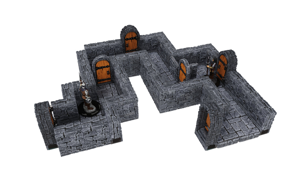 WarLock Tiles: Expansion Pack - 1 in Dungeon Straight Walls (Pre-order) Apr 2021