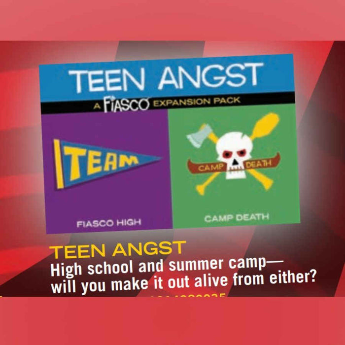 Fiasco: Teen Angst Expansion Pack Board Game (Pre-order)