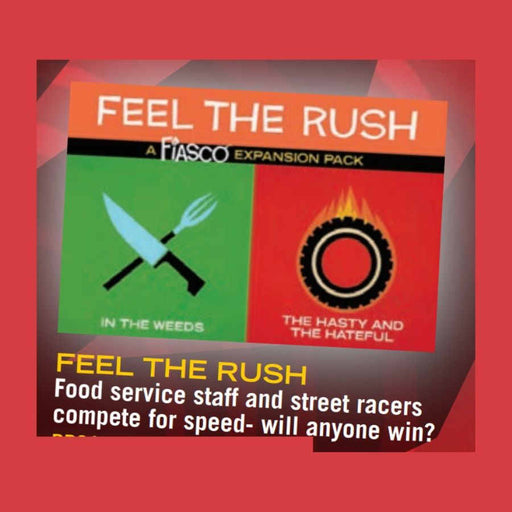Fiasco: Feel The Rush Expansion Pack Board Game (Pre-order)