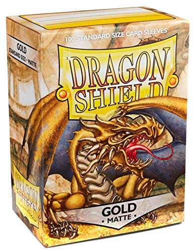 Dragon Shield Standard Sleeves - Matte Gold (100 COUNT)