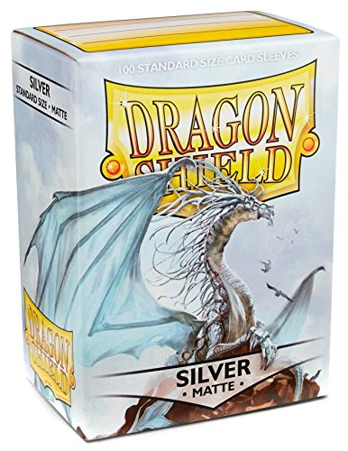 Dragon Shield Standard Sleeves - Matte Silver (100 COUNT)