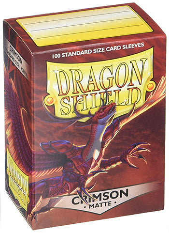 Dragon Shield Standard Mat Character Sleeves Crimson (100 COUNT)