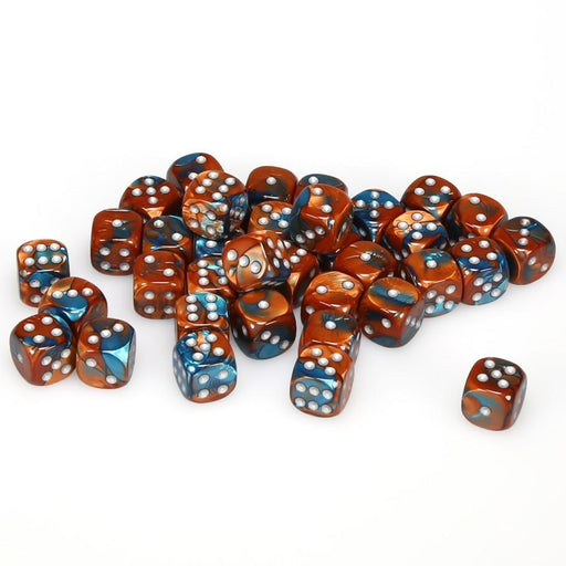 Chessex 36pcs/12mm D6 Dice Set: Gemini Copper-Teal/Silver
