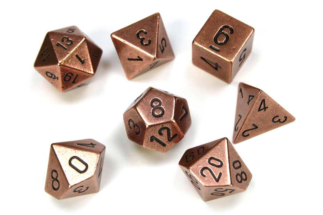 Chessex 7-Die Set Metal: Copper Color
