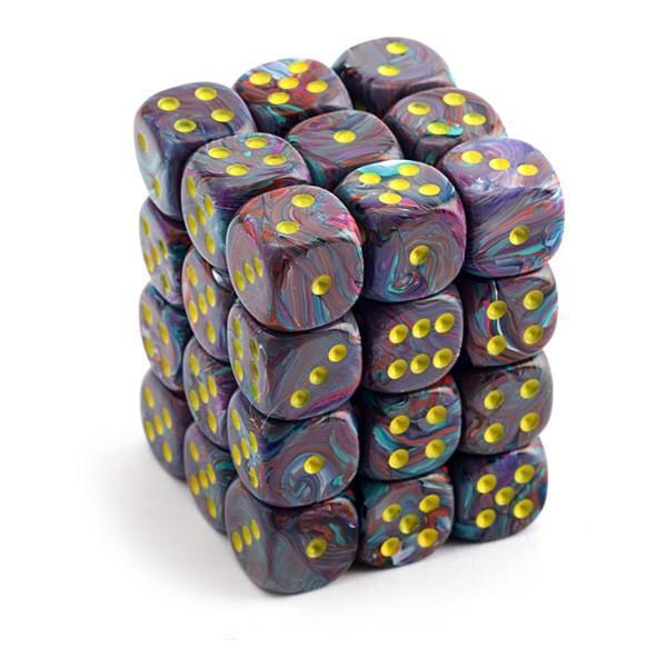 Chessex 36pcs/12mm D6 Dice Set: Festive Mosaic/Yellow