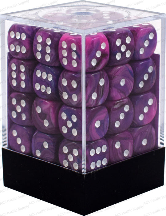 Chessex 36pcs/12mm D6 Dice Set: Festive Violet White