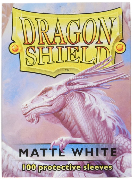 Dragon Shield Standard Sleeves - Matte White (100 COUNT)