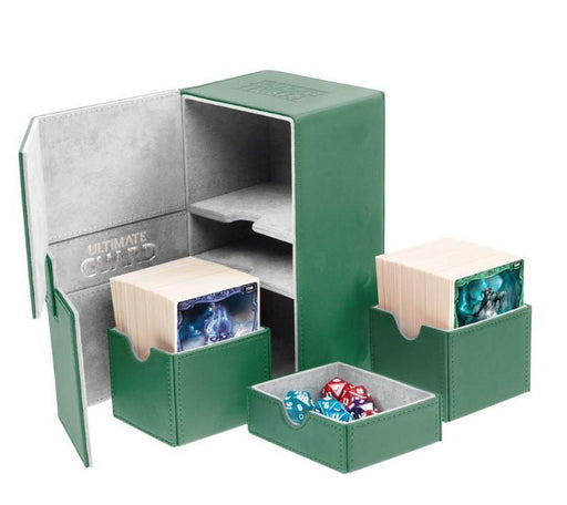 Ultimate Guard Twin Flip n Tray Double Deck Box for 160+ Cards - Green