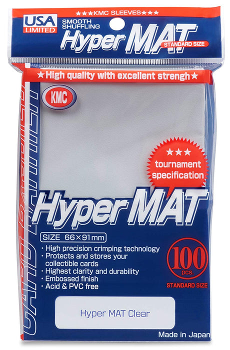 KMC Standard Sized Hyper Mat Clear (100 COUNT) USA Distribution