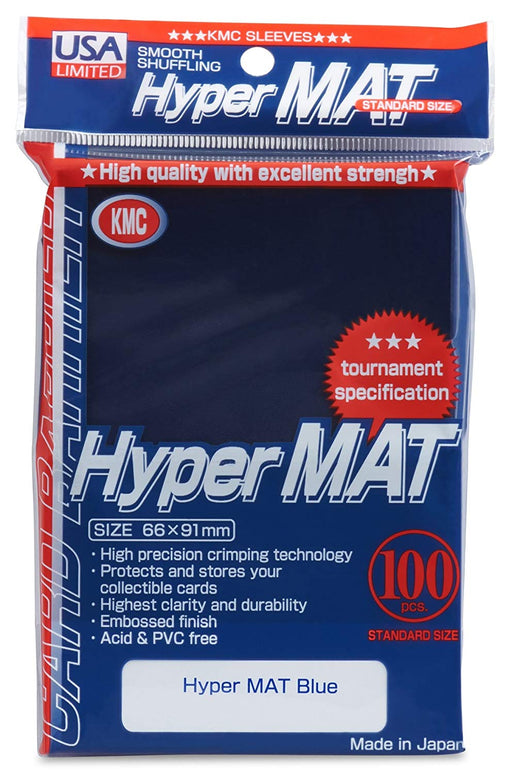 KMC Standard Sized Hyper Mat Blue (100 COUNT) USA Distribution