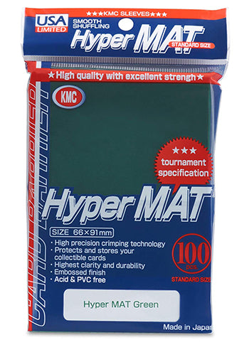 KMC Standard Sized Hyper Mat Green (100 COUNT) USA Distribution