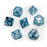 Chessex 7pcs Dice Set: Lustrous - Slate/White for MtG & DnD | Wizardry Foundry