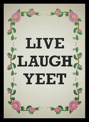 Deck Protector: Live Laugh Yeet (50 CT)