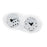 Silver Plated Chessex D6 Dice Set - 2pcs/16mm for MtG & DnD | Wizardry Foundry