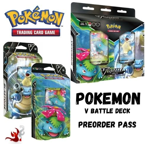 Pokemon V Battle Deck: Venusaur V vs Blastoise V Preorder Pass