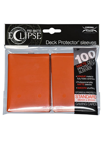 Ultra Pro: Eclipse Deck Protector Sleeves Pro-Matte Pumpkin Orange Standard 100CT