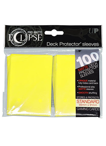 Ultra Pro: Eclipse Deck Protector Sleeves Pro-Matte Lemon Yellow Standard 100CT