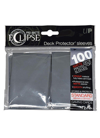 Ultra Pro: Eclipse Deck Protector Sleeves Pro-Matte Smoke Grey Standard 100CT