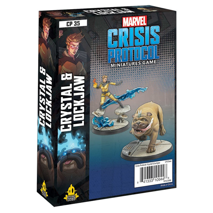 Marvel Crisis Protocol: Crystal & Lockjaw Pack Expansion Miniature Game (Pre-order) Feb 2021