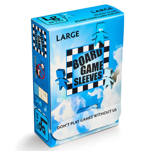 Large Blue Non-Glare Board Game Sleeves (50 CT)
