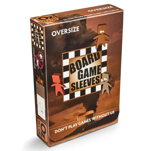 Oversize Brown Non-Glare Board Game Sleeves (50 CT)