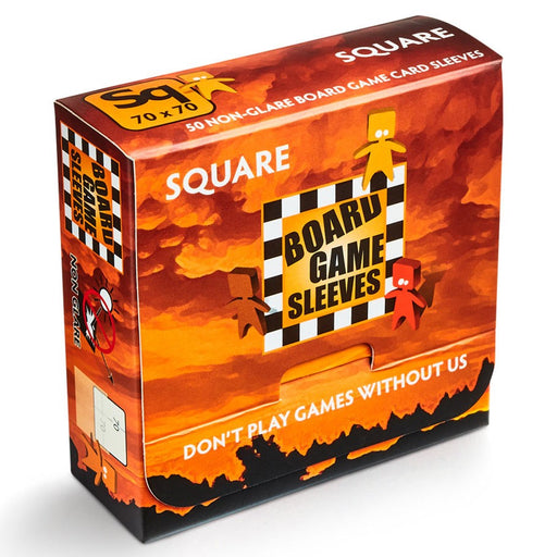 Deck Protector: Board Game Sleeves: Non-Glare: Square Orange (50 CT)