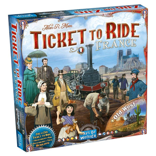 Ticket to Ride: France & Old West Map 6 Board Game