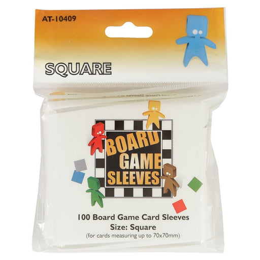 Square Orange Non-Glare Board Game Sleeves (100 CT)