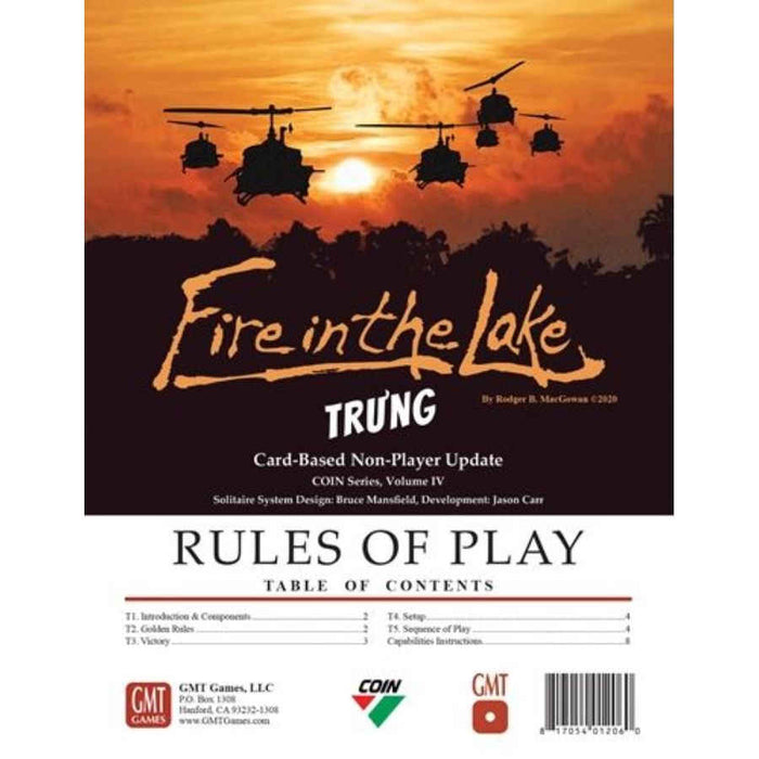 Fire in the Lake: Tru'ng Bot Update Pack Board Game