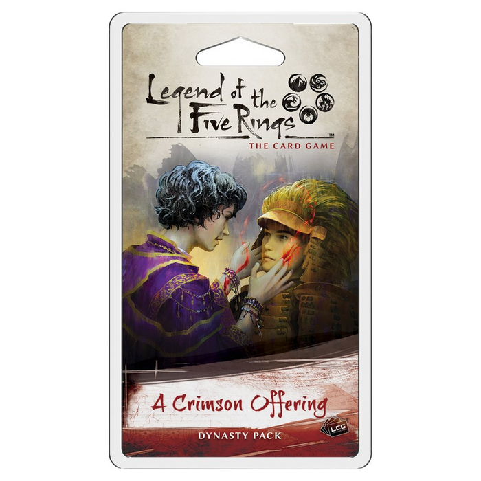 Legend of the Five Rings LCG: A Crimson Offering Dynasty Pack (Pre-order) Jan 2021
