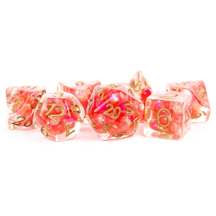 Pearl: Red with Copper Numbers 7pcs Dice Set (Pre-order) Apr 2021