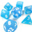 Chessex 7pcs Dice Set: Frosted - Caribbean Blue/White for MtG & DnD | Wizardry Foundry