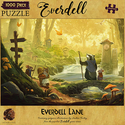 Everdell: Everdell Lane 1000pcs Puzzle (Pre-order) Apr 2021