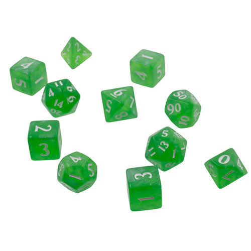 Eclipse: Poly Lime Green 11pcs Dice Set (Pre-order) Aug 2021