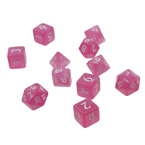 Eclipse: Poly Hot Pink 11pcs Dice Set (Pre-order) Aug 2021